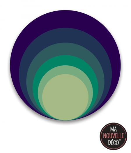 """Tapis rond vinyle """"Purple"""" dégradé de couleurs très graphique"""