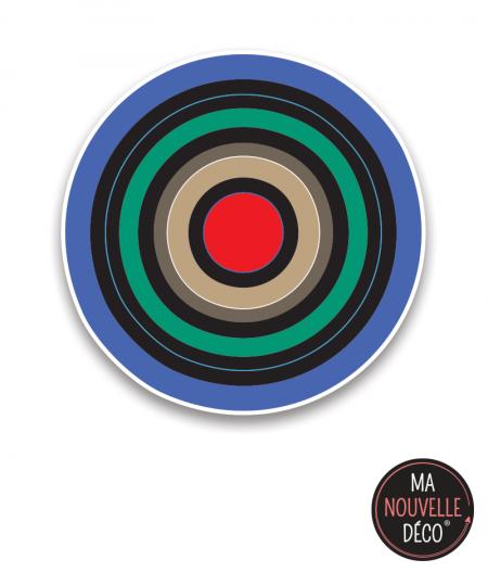 """Tapis vinyle rond """"CIBLE"""", diamètre 100 cm tapis graphique - ma nouvelle decoration.com"""