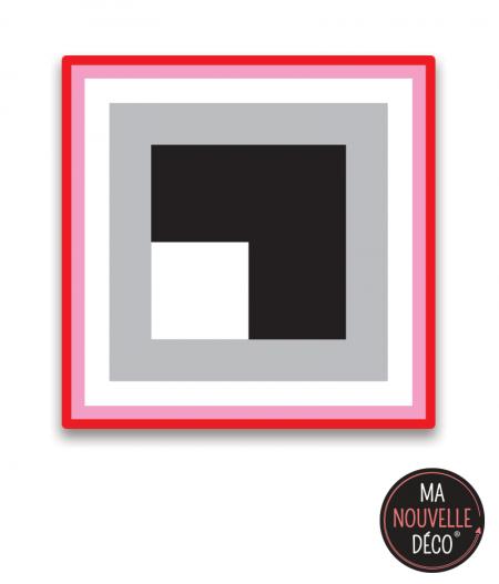 """tapis carré vinyle """"ROSE"""" tapis graphique  tendance - ma nouvelle décoration"""
