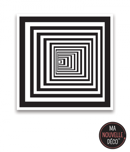 """Tapis carré vinyle """"infini"""" tapis de sol illusion optique - tapis original - ma nouvelle décoration"""