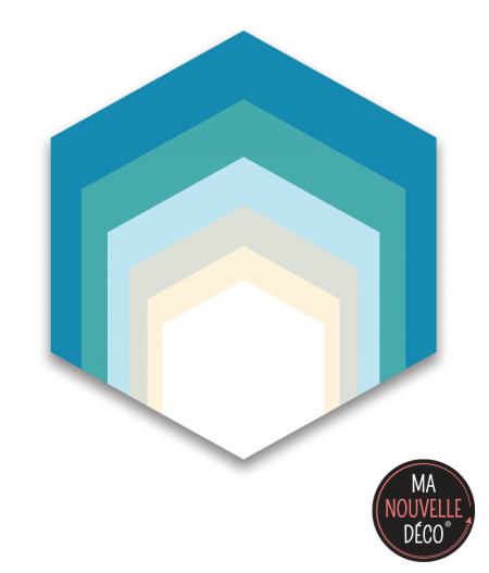 Tapis vinyle hexagonal - inspiration bord de mer - ma nouvelle decoration