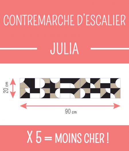 Taille : CONTREMARCHE D'ESCALIER JULIA