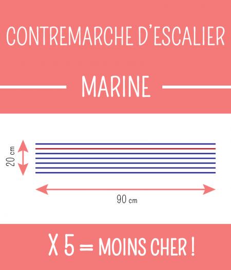 Taille : CONTREMARCHE D'ESCALIER MARINE