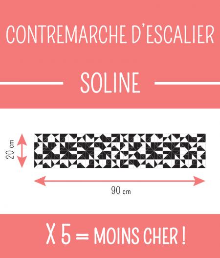 Taille : CONTREMARCHE D'ESCALIER SOLINE