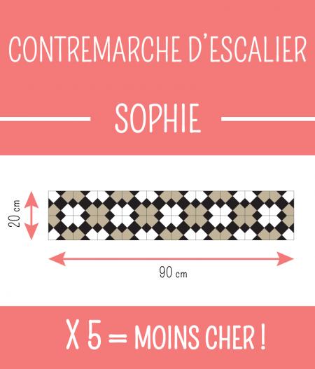 Taille : CONTREMARCHE D'ESCALIER SOPHIE