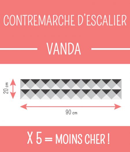 Taille : CONTREMARCHE D'ESCALIER VANDA