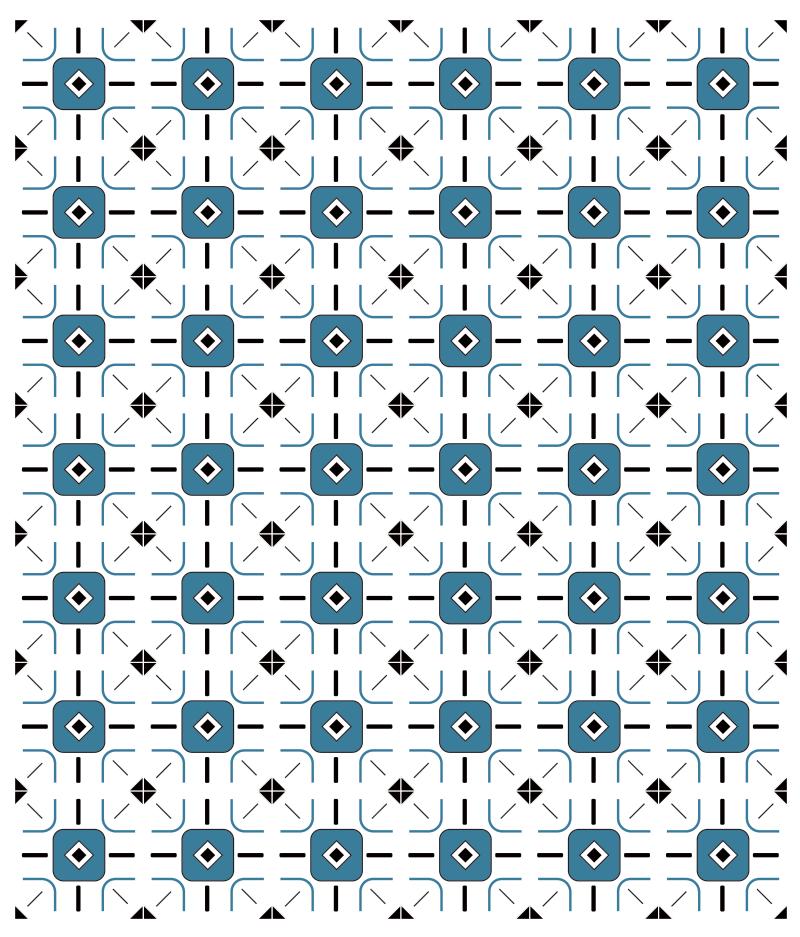Crédence de cuisine carreaux de ciment LOU - bleu - noir - blanc - ma nouvelle decoration