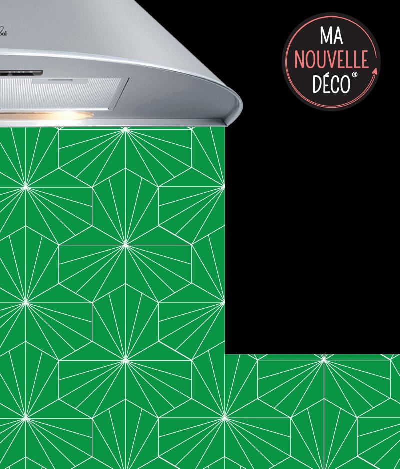 Crédence de cuisine LILY - graphique - originale - vert - ma nouvelle decoration
