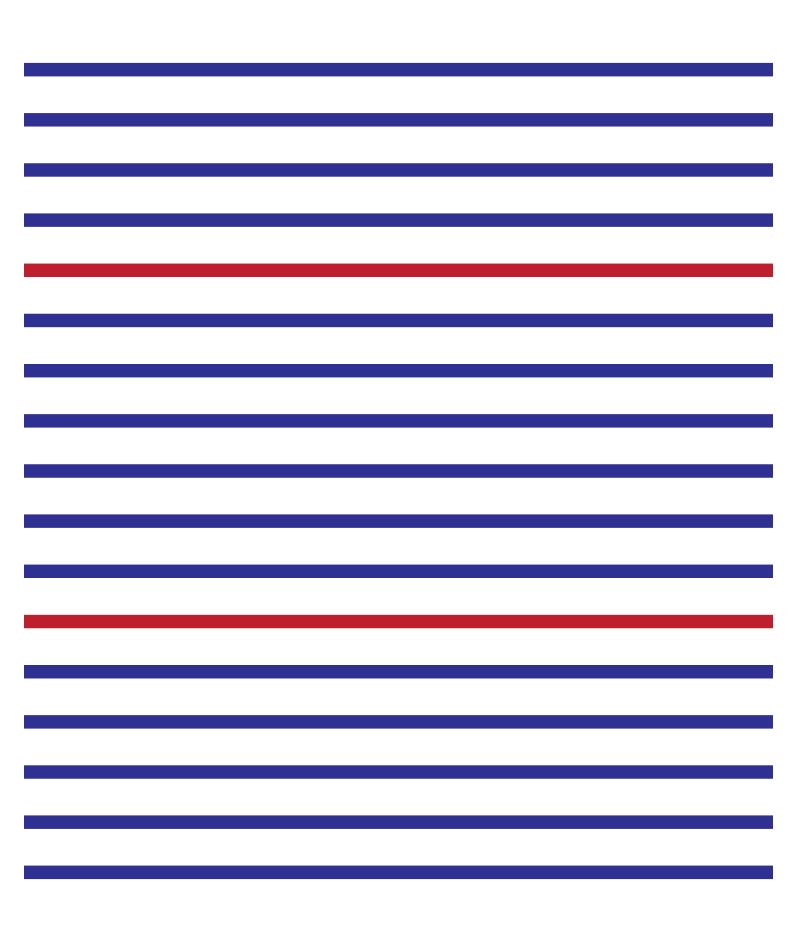 Crédence de cuisine PARIS lignes horizontales bleu blanc rouge