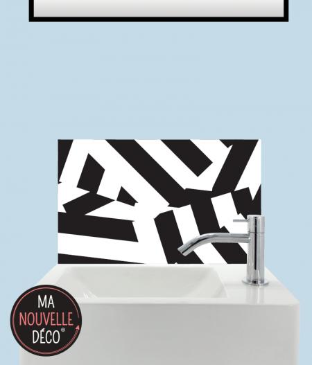 CRÉDENCE LAVE-MAINS CHANTAL motif original noir et blanc - ma nouvelle decoration.