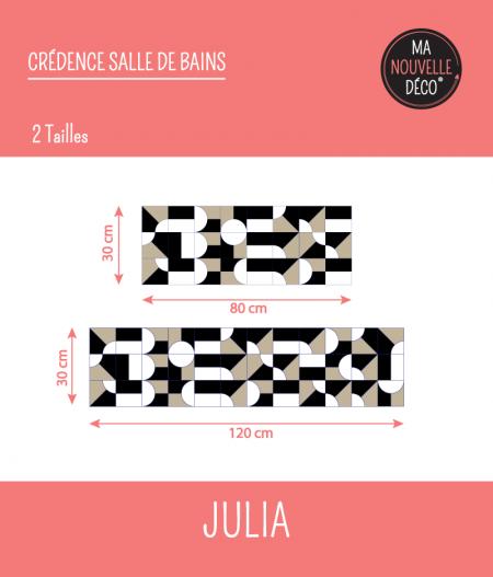 TAILLES : CRÉDENCE  JULIA