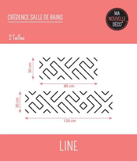 Tailles : CRÉDENCE DE SALLE DE BAINS LINE