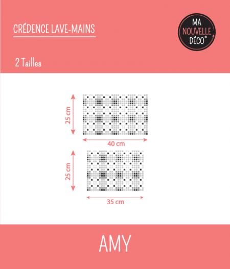 Dimensions crédence pour lavabo AMY