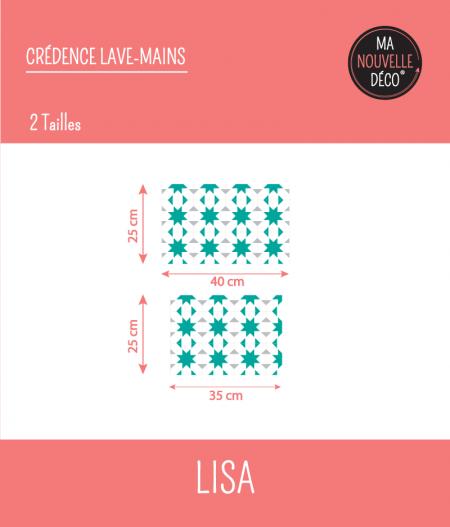 tailles crédence lave-mains LISA