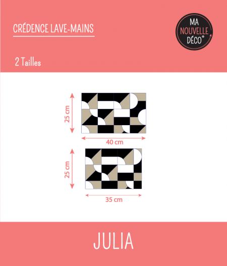 Dimensions : CRÉDENCE LAVE-MAINS JULIA