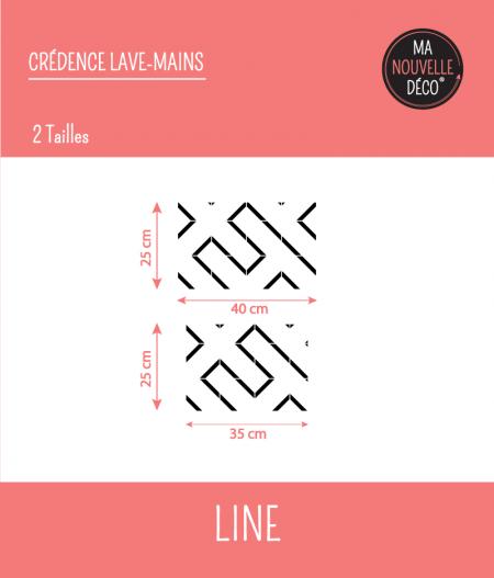 Dimensions CRÉDENCE LAVE-MAINS LINE