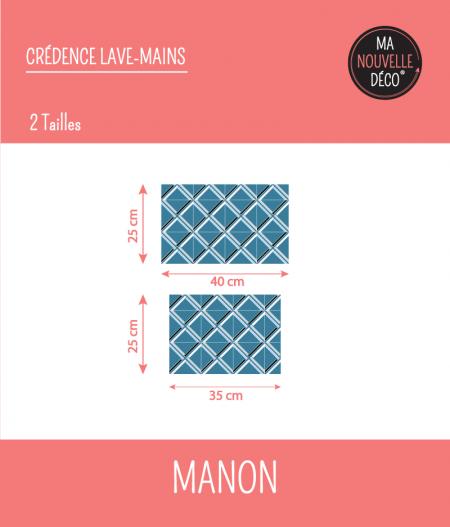 Tailles : CRÉDENCE LAVE-MAINS MANON