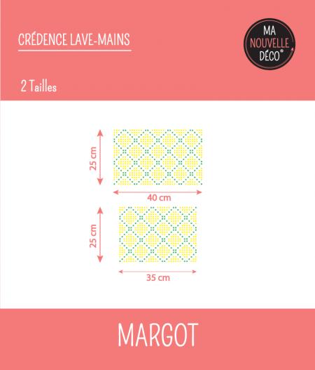 Tailles : CRÉDENCE LAVE-MAINS MARGOT