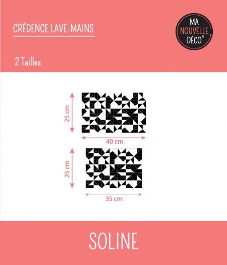 Tailles : CRÉDENCE LAVE-MAINS SOLINE
