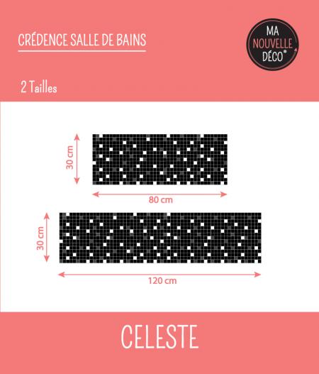 TAILLES : CRÉDENCE DE SALLE DE BAINS CÉLESTE