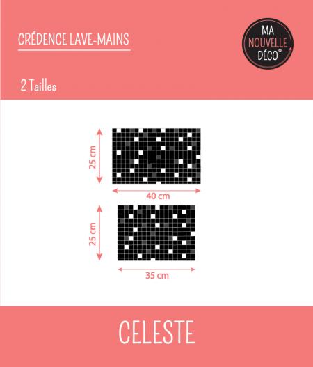 Tailles : CRÉDENCE LAVE-MAINS CÉLESTE