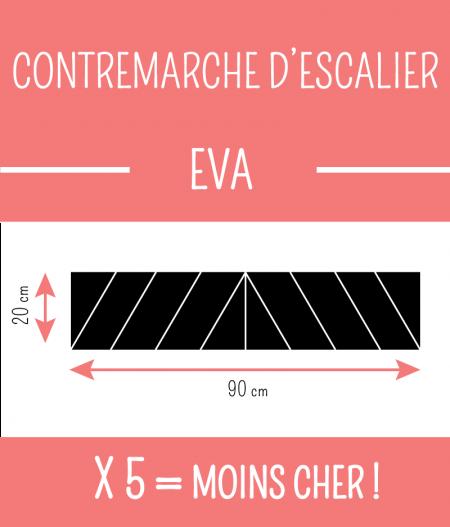 contremarche adhésive d'escalier EVA : taille