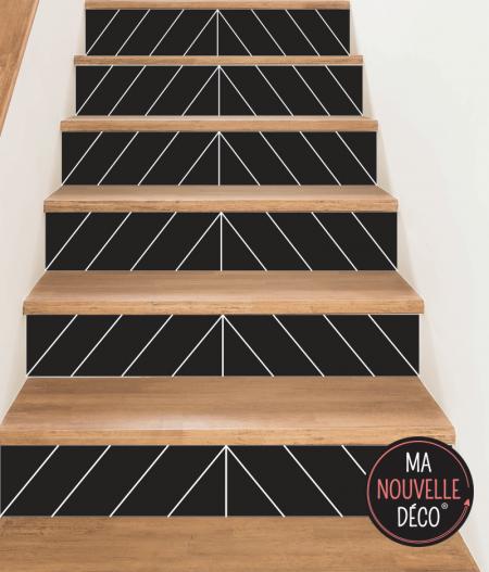 contremarche d'escalier EVA motif design et graphique - autocollante. PVC