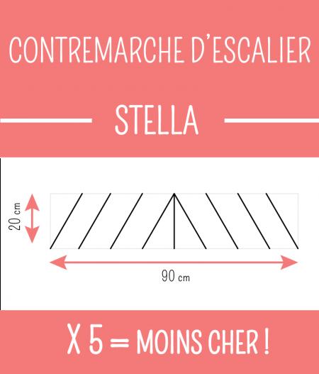 CONTREMARCHE D'ESCALIER STELLA dimensions.
