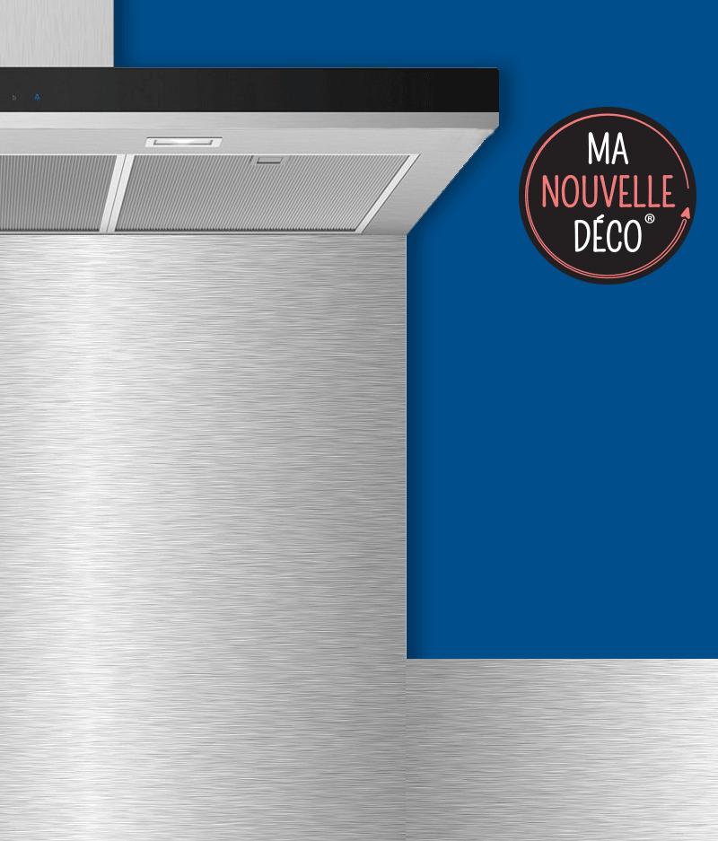 Crédence de cuisine adhésive Aluminium brossé - déco industrielle - déco contemporaine - ma nouvelle decoration