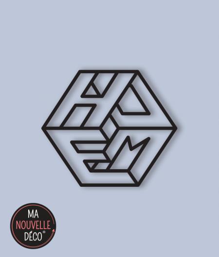 Motif : DÉCORATION MURALE HOME MÉTAL NOIR