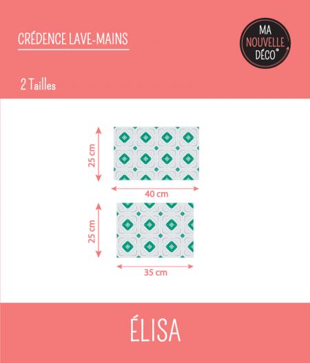 CRÉDENCE LAVE-MAINS ÉLISA : dimensions