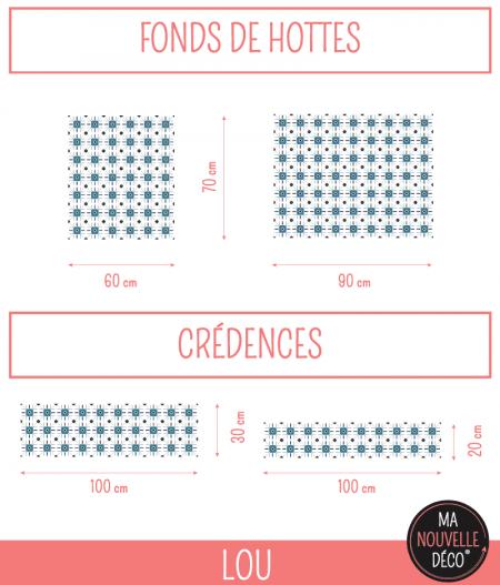 Dimensions crédence de cuisine adhésive LOU