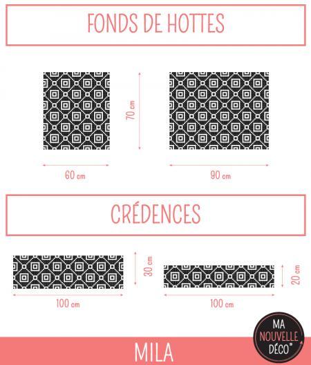 dimensions Crédence de cuisine MILA