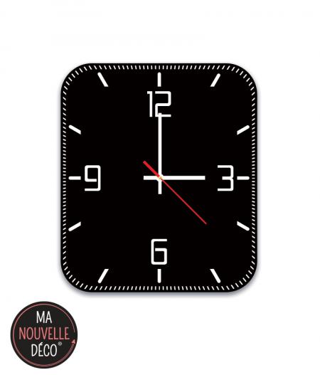 Horloge murale noir manouvelledecoation.com