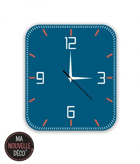 horloge murale bleu manouvelledecoration.com