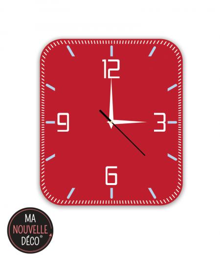 horloge murale silencieuse rouge manouvelledecoration.com