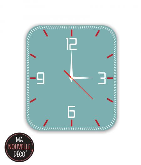 horloge vert scandinave manouvelledecoration.com